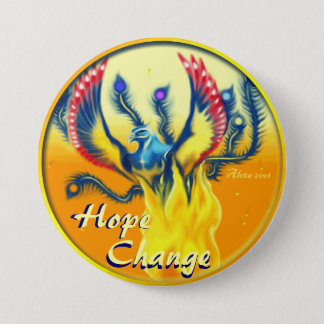 Phoenix Rising ~ Hope & Change Button