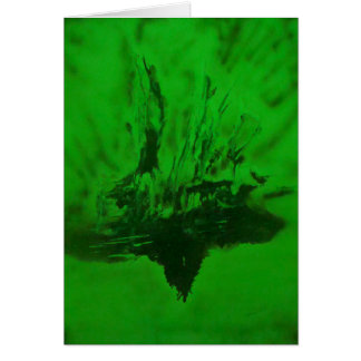 Phoenix Rising in Green Greeting Cards