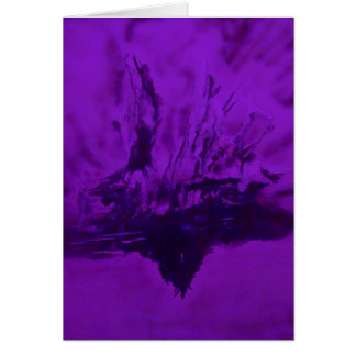 Phoenix Rising in Purple Greeting Cards