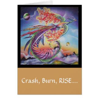 """Phoenix Rising"" inspirational get well card"