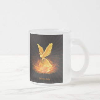 Phoenix Rising 10 Oz Frosted Glass Coffee Mug