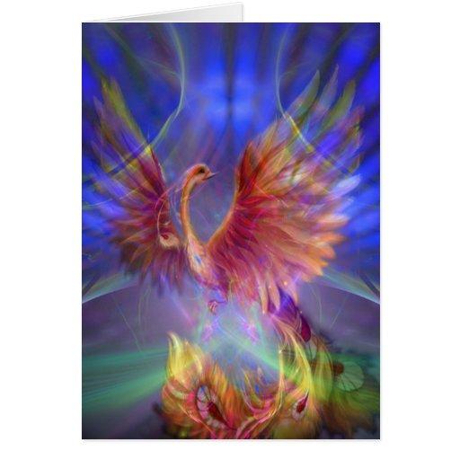 Phoenix Rising Notecard Cards