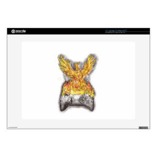 "Phoenix Rising Over Burning Game Controller Tattoo Skins For 15"" Laptops"