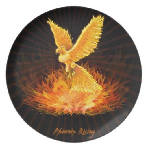 Phoenix Rising Party Plates