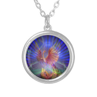 Phoenix Rising Silver-Plated Necklace