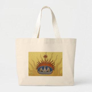 Phoenix Rising Vintage Firebird Jumbo Tote Bag