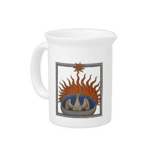 Phoenix Rising Vintage Firebird Drink Pitcher