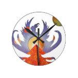Phoenix Rising Wall Clock