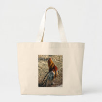 Phoenix Rooster From Behind Large Tote Bag