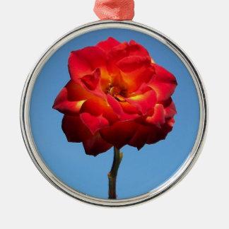 Phoenix Rose in the Sky-prem round ornament