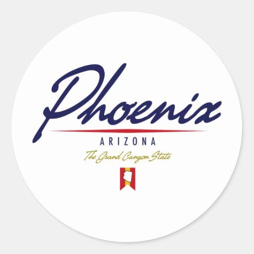 Phoenix Script Classic Round Sticker