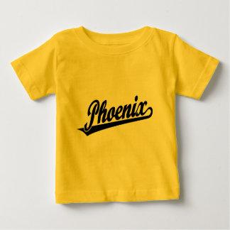 Phoenix script logo in black t-shirt