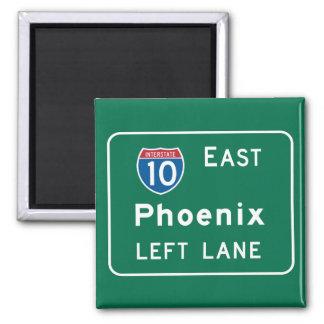Phoenix, señal de tráfico de AZ Imán Cuadrado