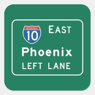 Phoenix, señal de tráfico de AZ Pegatina Cuadrada