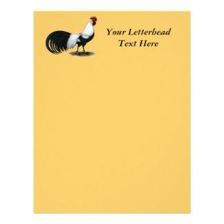 Phoenix:  Silver Duckwing Rooster Customized Letterhead