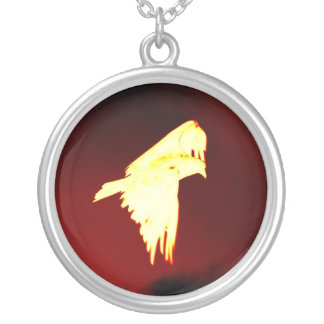 Phoenix Silver Plated Necklace