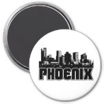 Phoenix Skyline Fridge Magnet