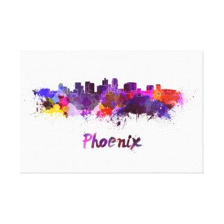 Phoenix skyline in watercolor canvas print