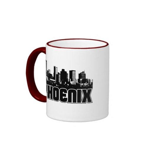 Phoenix Skyline Ringer Coffee Mug