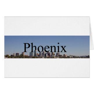Phoenix Skyline with Phoenix in the Sky Note Card