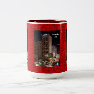 Phoenix Skyscrapers at Night Mug