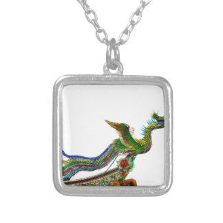 Phoenix Square Pendant Necklace