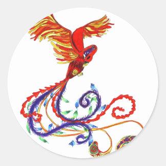 Phoenix Round Sticker