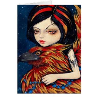 """""""Phoenix Tattoo"""" Greeting Card"""