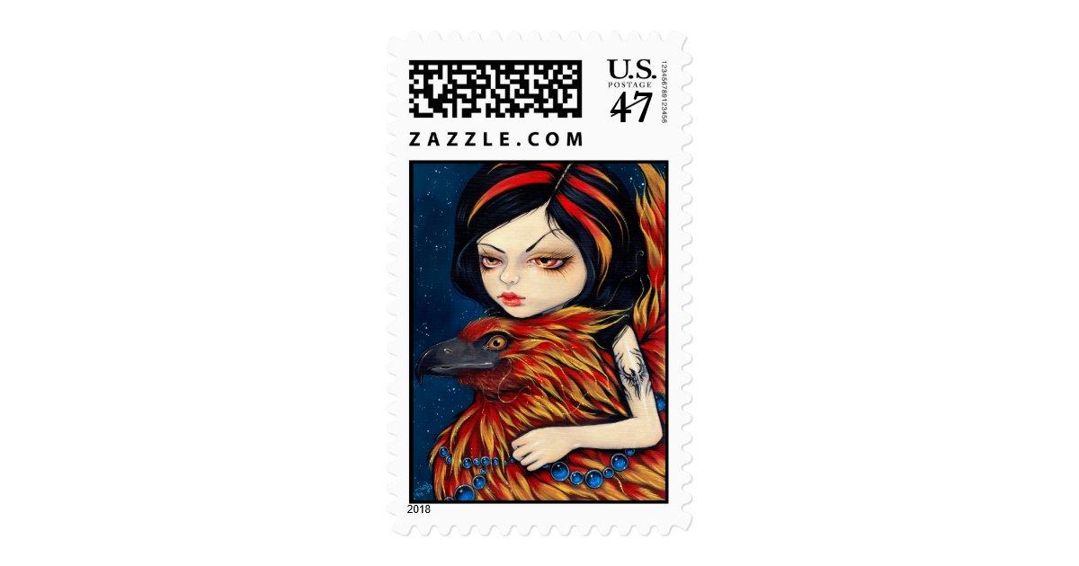 phoenix tattoo stamp zazzle. Black Bedroom Furniture Sets. Home Design Ideas