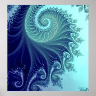 Phoenix - THE BLUE SPIRAL Print