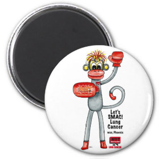 Phoenix the Lung Cancer SMAC! Monkey - Boxing! Magnet