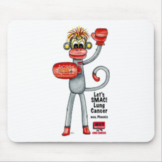Phoenix the Lung Cancer SMAC Monkey - Boxing Mouse Pad