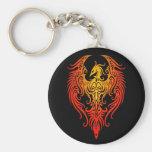 Phoenix tribal adornada llavero personalizado