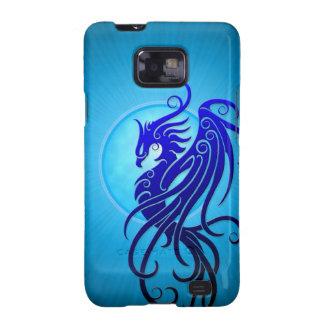 Phoenix tribal azul galaxy s2 fundas