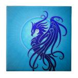 Phoenix tribal azul tejas  cerámicas