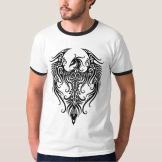 Phoenix tribal negra adornada poleras