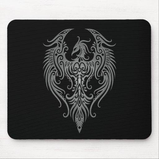 Phoenix tribal oscura adornada tapetes de ratones