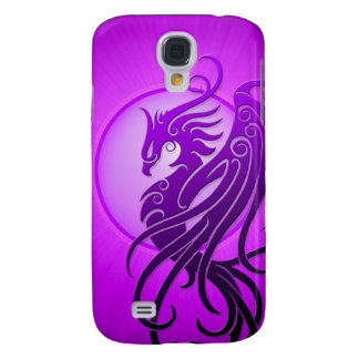 Phoenix tribal púrpura funda para galaxy s4