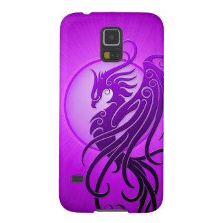 Phoenix tribal púrpura carcasa de galaxy s5
