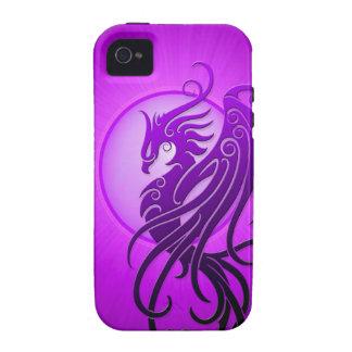 Phoenix tribal púrpura vibe iPhone 4 carcasa