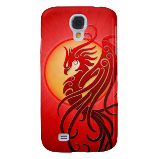 Phoenix tribal roja funda para galaxy s4