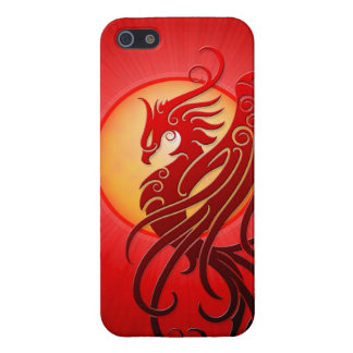 Phoenix tribal roja iPhone 5 carcasas