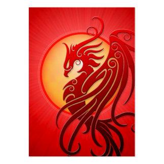 Phoenix tribal roja plantillas de tarjeta de negocio