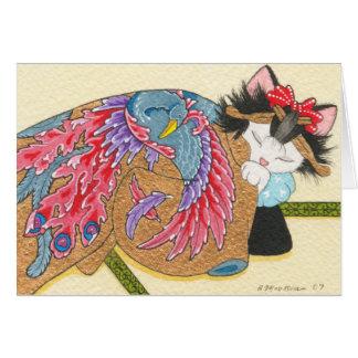 Phoenix uchikake notecard card