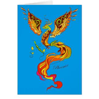 Phoenix vector illustration card