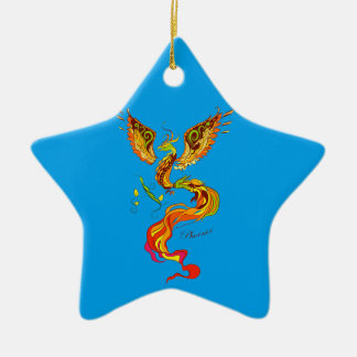 Phoenix vector illustration ceramic ornament