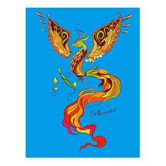 Phoenix vector illustration postcard