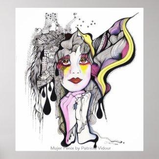 Phoenix Woman print