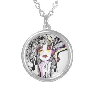 Phoenix Woman Round Pendant Necklace