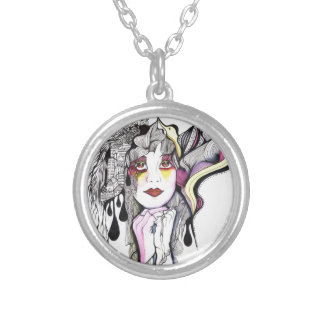 Phoenix Woman Silver Plated Necklace
